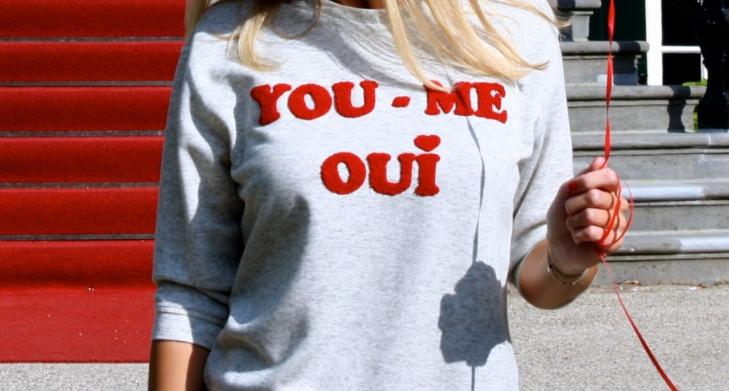 'You - Me, Oui' sweat